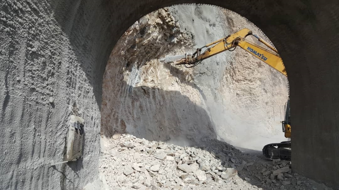 Construction of Chartagh Tunnel